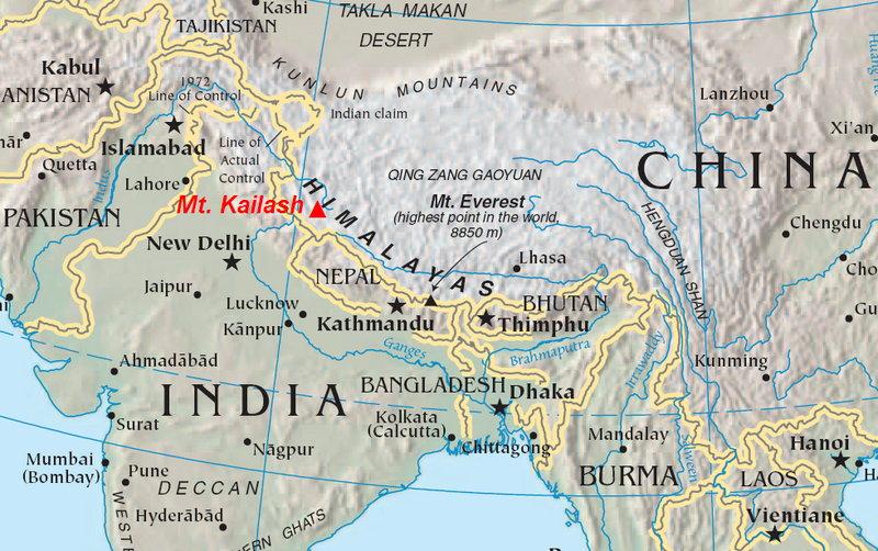 Где находится тибет горы